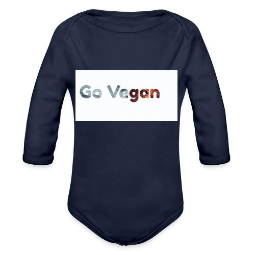 Go Vegan - motif Animal - Body Bébé bio manches longues