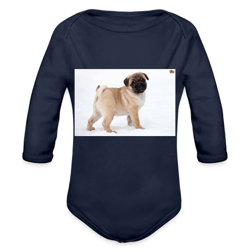 walker family pug merch - Organic Longsleeve Baby Bodysuit
