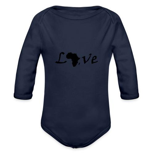 Love Africa - Baby Bio-Langarm-Body
