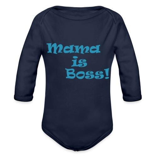Mama is Boss! BabyBlu - Baby Bio-Langarm-Body