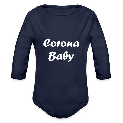 Corona baby merchandise white - Organic Longsleeve Baby Bodysuit
