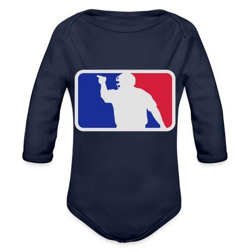 Baseball Umpire Logo - Organic Longsleeve Baby Bodysuit