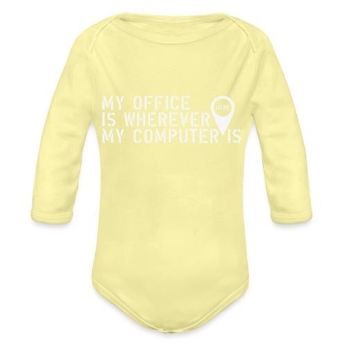 Wherever - Body orgánico de manga larga para bebé
