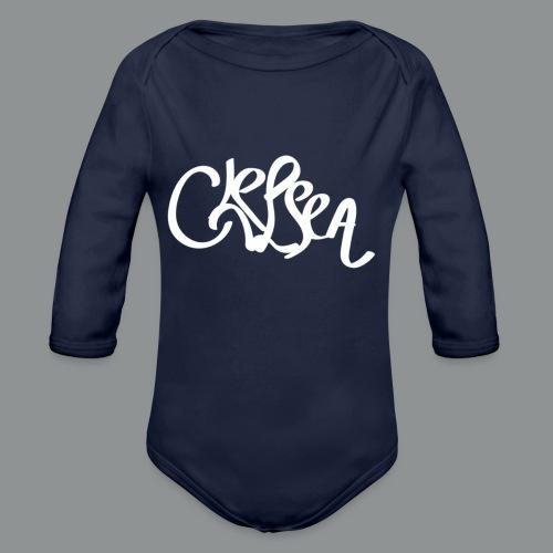 Mannen Shirt (Rug) - Baby bio-rompertje met lange mouwen