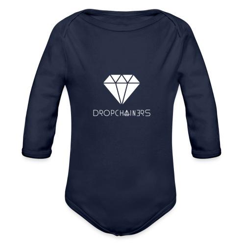 Dropchainers T-Shirt V-Ausschnitt - Baby Bio-Langarm-Body