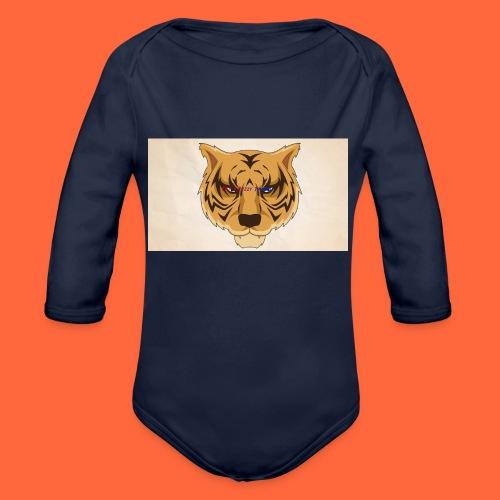 Fuzzy Tigers - Økologisk langermet baby-body