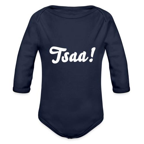 Tsaa! - Baby bio-rompertje met lange mouwen
