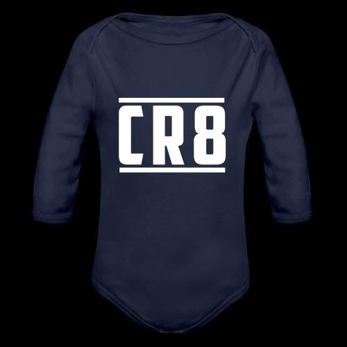 CR8 Hoodie - Black - Organic Longsleeve Baby Bodysuit