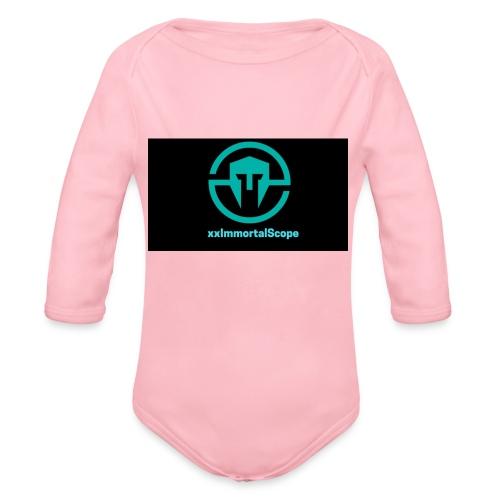 xxImmortalScope throwback - Organic Longsleeve Baby Bodysuit