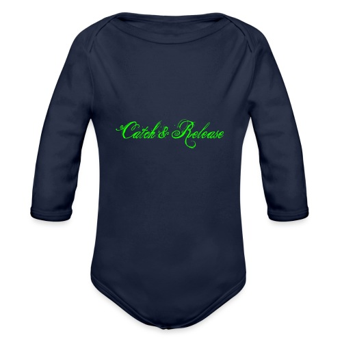 Catch N Release Neon Green - Body Bébé bio manches longues