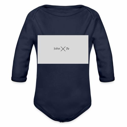 john tv - Organic Longsleeve Baby Bodysuit