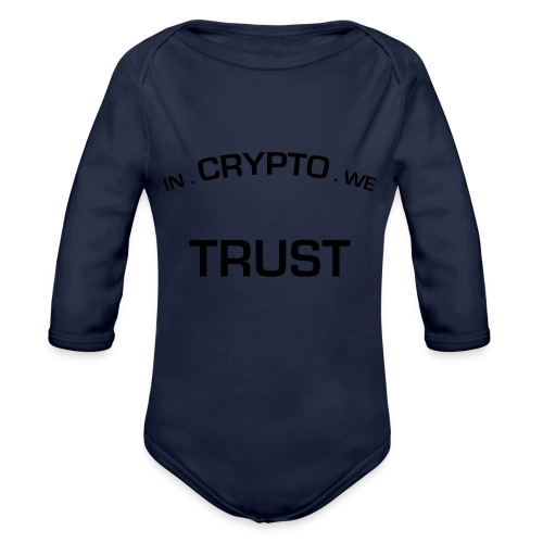 In Crypto we trust - Baby bio-rompertje met lange mouwen