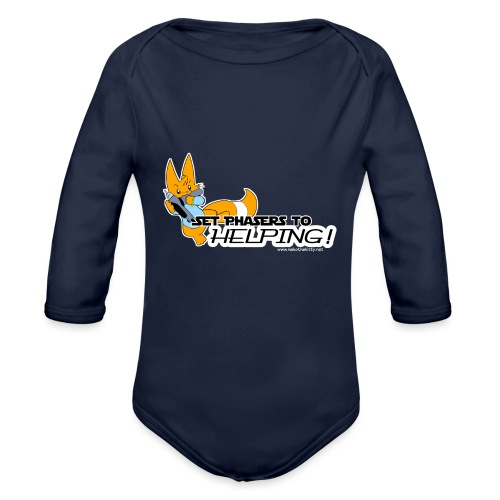 Set Phasers to Helping - Organic Longsleeve Baby Bodysuit