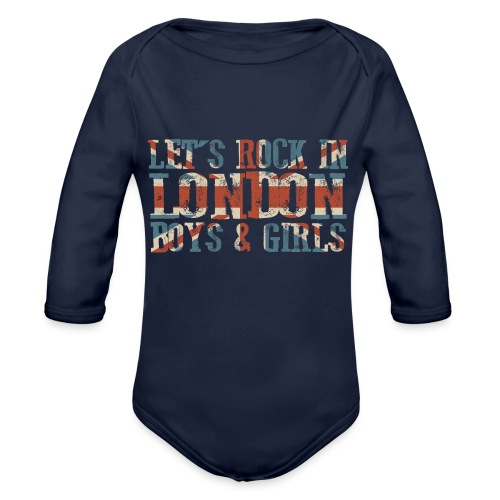 LET'S ROCK IN LONDON - Body ecologico per neonato a manica lunga