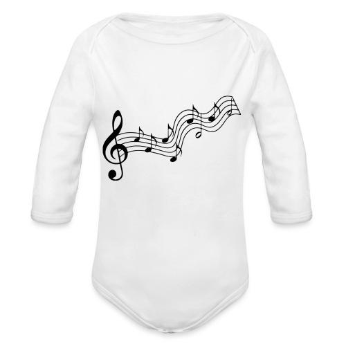 Musiknoten - Baby Bio-Langarm-Body