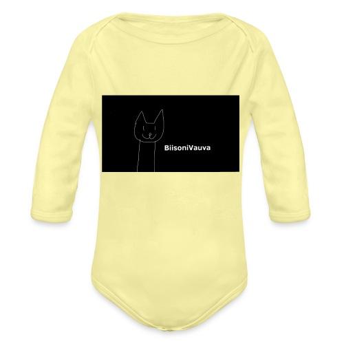 biisonivauva - Vauvan pitkähihainen luomu-body
