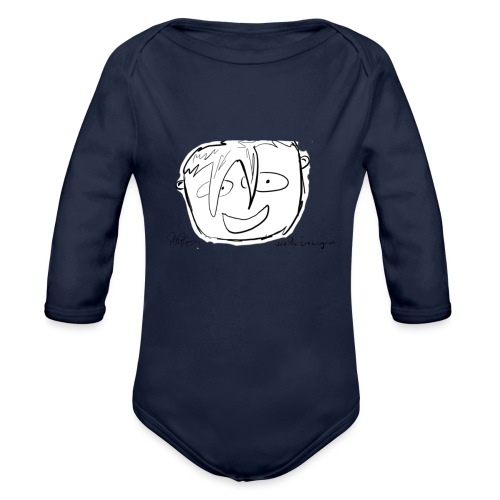 The Face Zoomed | Peter Eric Lang - Organic Longsleeve Baby Bodysuit