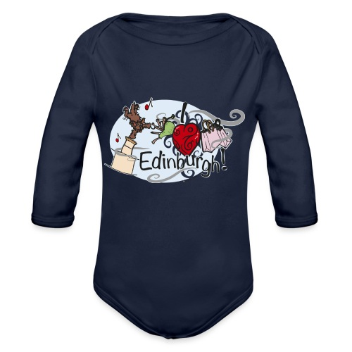 I love Edinburgh - Organic Longsleeve Baby Bodysuit