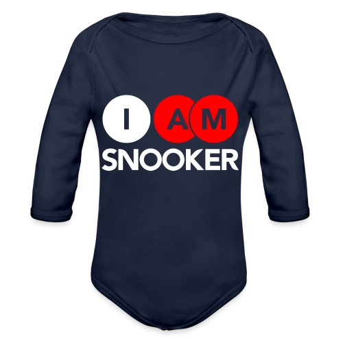 I AM SNOOKER - Organic Longsleeve Baby Bodysuit