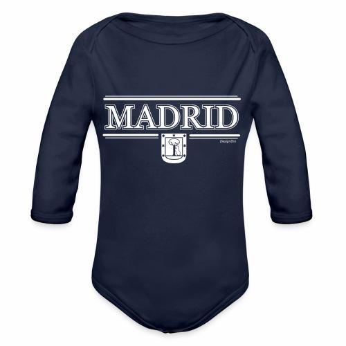 Camiseta Madrid Negra - Body orgánico de manga larga para bebé