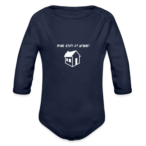 #We stay at home! - Baby Bio-Langarm-Body