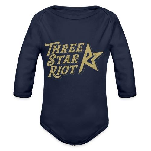 Three Star Riot logo väri - Vauvan pitkähihainen luomu-body