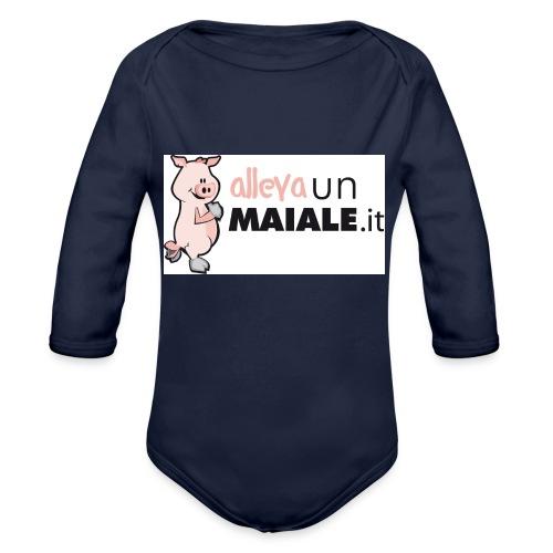 Allevaunmiale.it - Body ecologico per neonato a manica lunga