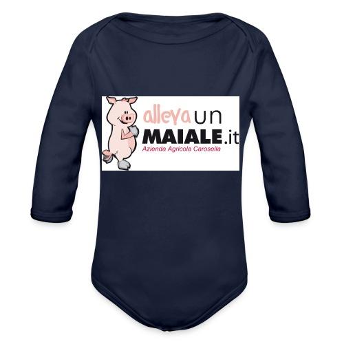 Allevaunmaiale.it con Azienda - Body ecologico per neonato a manica lunga
