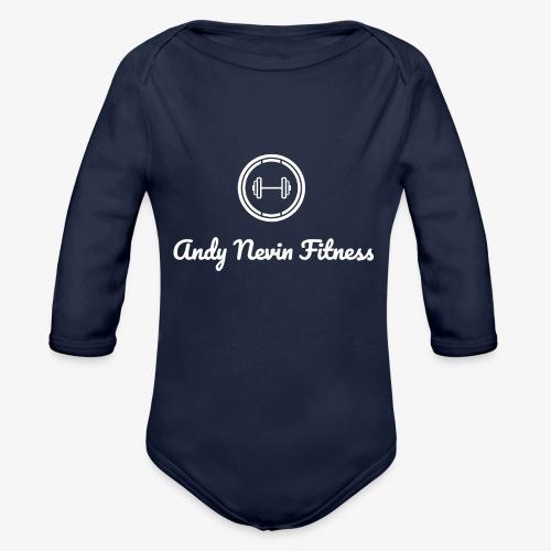 2 3 - Organic Longsleeve Baby Bodysuit