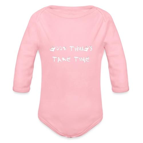 QUOTES - Organic Longsleeve Baby Bodysuit