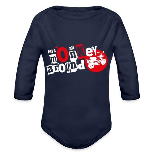 Monkey Around T-Shirt - Organic Longsleeve Baby Bodysuit