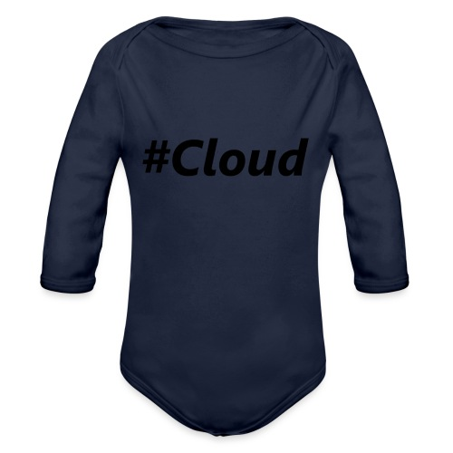 #Cloud black - Baby Bio-Langarm-Body