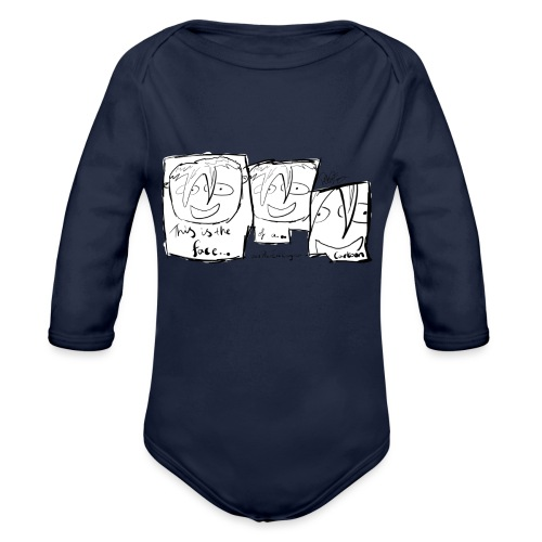 This Is The Face Comic | Peter Eric Lang - Organic Longsleeve Baby Bodysuit