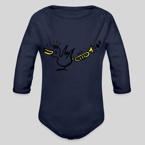 trompetenvogel - Baby Bio-Langarm-Body