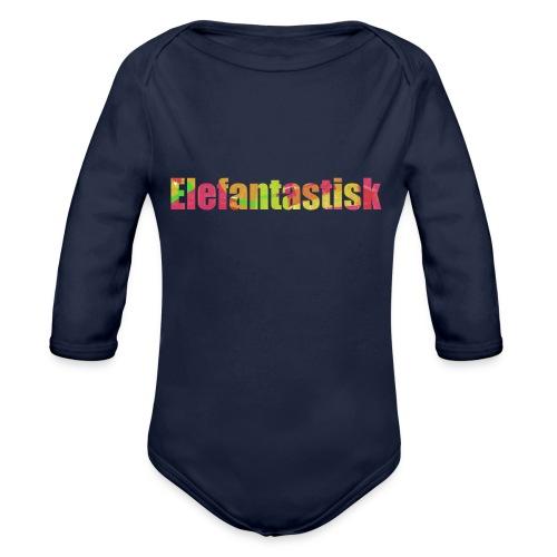 Elefantastisk text - Ekologisk långärmad babybody