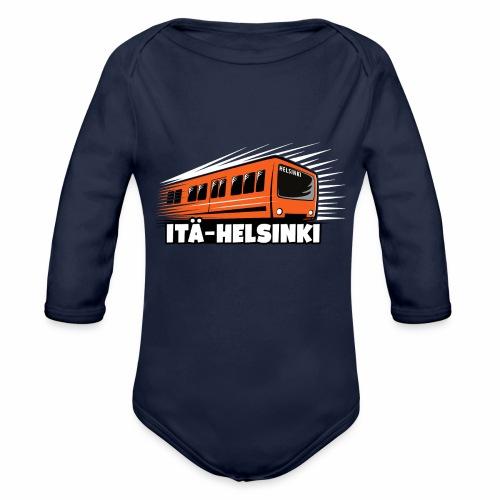 ITÄ-HELSINKI METRO T-paidat, Hupparit, lahjat ym. - Vauvan pitkähihainen luomu-body