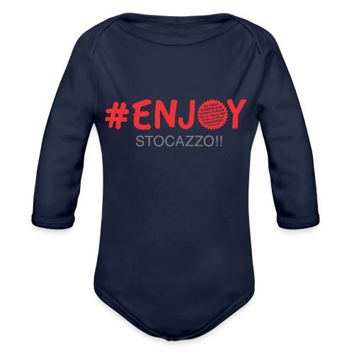 EnjoyStoCazzo 3 - Body ecologico per neonato a manica lunga
