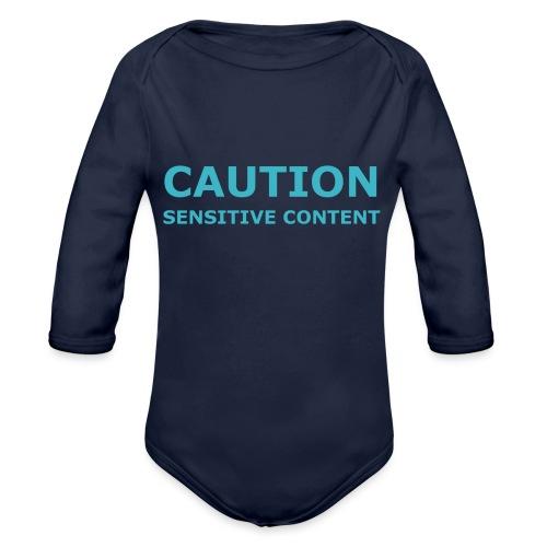 Caution men's t-shirt - Organic Longsleeve Baby Bodysuit