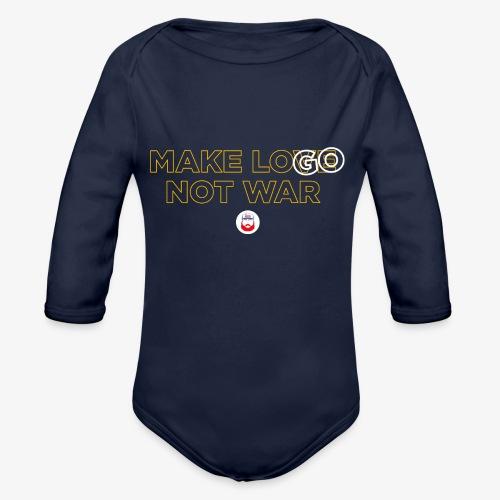 Make LOGO not WAR - Body ecologico per neonato a manica lunga
