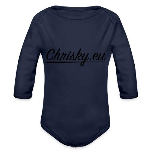 chrisky.eu logo schwarz - Baby Bio-Langarm-Body