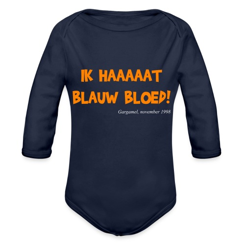 ik haat blauw bloed - Baby bio-rompertje met lange mouwen
