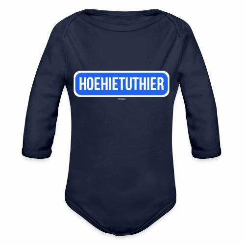 Hoehietuthier - Baby bio-rompertje met lange mouwen