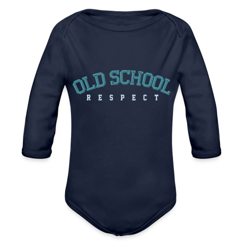 Old School Respect 02 - Baby bio-rompertje met lange mouwen