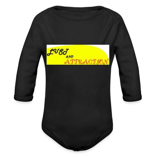 lust ans attraction - Organic Longsleeve Baby Bodysuit