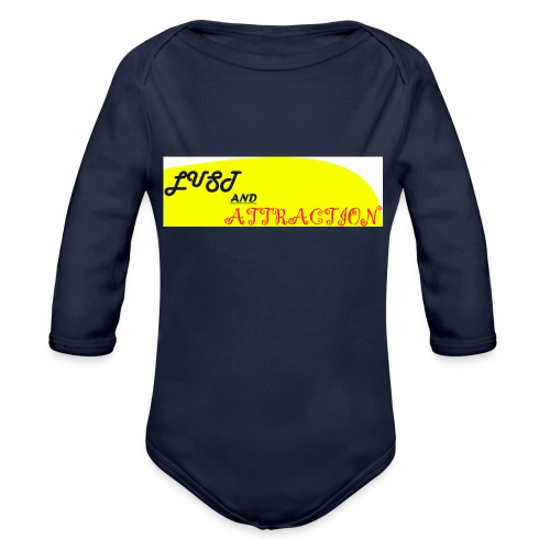 lust ans attraction - Organic Longsleeve Baby Bodysuit