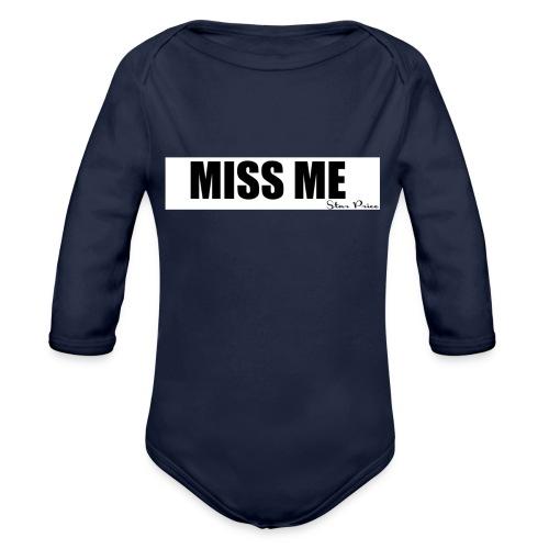 MISS ME - Organic Longsleeve Baby Bodysuit