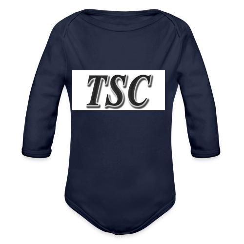 TSC Black Text - Organic Longsleeve Baby Bodysuit
