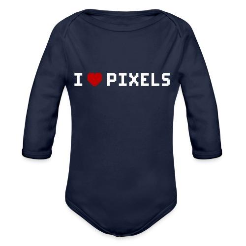I Love Pixels - Langærmet babybody, økologisk bomuld