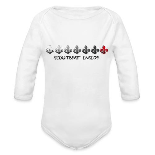 Loading Hearts - Pfadfinder Lilien - Baby Bio-Langarm-Body