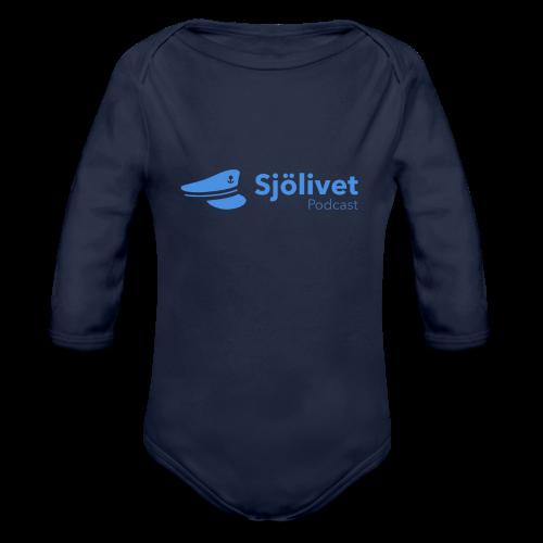 Sjölivet podcast - Svart logotyp - Ekologisk långärmad babybody